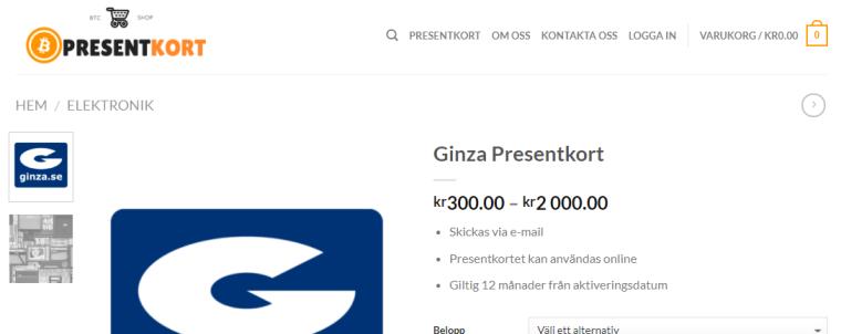 Bitcoin Presentkort Jensa Consulting