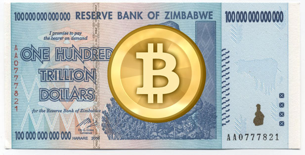 Bitcoin rusar i Zimbabwe!